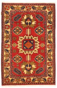 Kazak Teppe 101X158 Ekte Orientalsk Håndknyttet Rust/Mørk Brun (Ull, Pakistan)