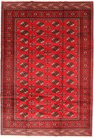 Turkaman Teppe 201X293 Ekte Orientalsk Håndknyttet Rust/Mørk Rød/Rød (Ull, Persia/Iran)