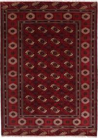 Turkaman Teppe 208X287 Ekte Orientalsk Håndknyttet Mørk Rød/Mørk Brun (Ull, Persia/Iran)
