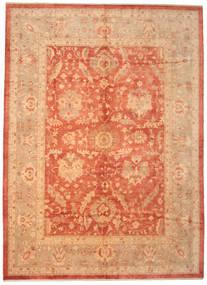 Usak Teppe 310X424 Ekte Orientalsk Håndknyttet Lysbrun/Orange Stort (Ull, Tyrkia)
