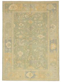 Usak Teppe 305X427 Ekte Orientalsk Håndknyttet Lysgrønn/Beige Stort (Ull, Tyrkia)