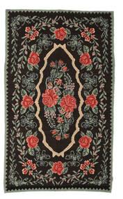 Rosekelim Moldavia Teppe 154X258 Ekte Orientalsk Håndvevd Mørk Brun/Mørk Grå (Ull, Moldova)