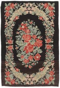Rosekelim Moldavia Teppe 169X252 Ekte Orientalsk Håndvevd Svart/Mørk Beige (Ull, Moldova)