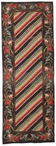 Rosekelim Moldavia Teppe 132X366 Ekte Orientalsk Håndvevd Teppeløpere Svart/Mørk Grå (Ull, Moldova)