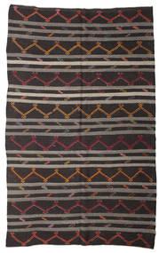 Kelim Halvt Antikke Tyrkiske Teppe 212X345 Ekte Orientalsk Håndvevd Svart/Mørk Grå (Ull, Tyrkia)