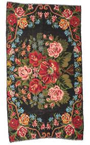 Rosekelim Moldavia Teppe 178X324 Ekte Orientalsk Håndvevd Svart/Mørk Brun (Ull, Moldova)