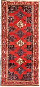 Senneh Teppe 130X305 Ekte Orientalsk Håndknyttet Teppeløpere Mørk Rød/Rød (Ull, Persia/Iran)