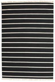 Dorri Stripe - Svart/Vit Teppe 200X300 Ekte Moderne Håndvevd Svart/Beige (Ull, India)