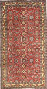 Tabriz Patina Teppe 168X318 Ekte Orientalsk Håndknyttet Mørk Rød/Lysbrun (Ull, Persia/Iran)