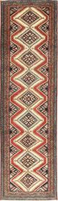 Hamadan Patina Teppe 85X300 Ekte Orientalsk Håndknyttet Teppeløpere Lysbrun/Mørk Rød (Ull, Persia/Iran)