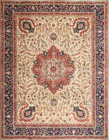 Tabriz Patina Teppe 305X390 Ekte Orientalsk Håndknyttet Lysbrun/Beige Stort (Ull, Persia/Iran)