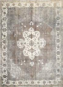 Colored Vintage Teppe 285X393 Ekte Moderne Håndknyttet Lys Grå/Mørk Beige Stort (Ull, Persia/Iran)