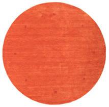 Loribaf Loom Teppe Ø 202 Ekte Moderne Håndknyttet Rundt Orange/Rød (Ull, India)