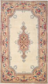 Kerman Royal Signert: Parta Teppe 285X504 Ekte Orientalsk Håndknyttet Beige/Mørk Brun Stort (Ull, Persia/Iran)