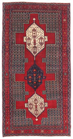 Senneh Patina Teppe 145X299 Ekte Orientalsk Håndknyttet Mørk Brun/Rød (Ull, Persia/Iran)