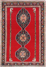 Ghashghai Teppe 193X285 Ekte Orientalsk Håndknyttet Rød/Mørk Grå (Ull, Persia/Iran)