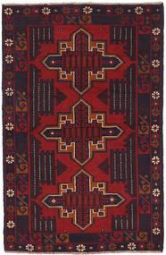 Beluch Teppe 84X140 Ekte Orientalsk Håndknyttet Svart/Mørk Rød (Ull, Afghanistan)