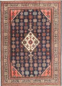 Hamadan Patina Teppe 212X303 Ekte Orientalsk Håndknyttet Mørk Lilla/Mørk Rød (Ull, Persia/Iran)
