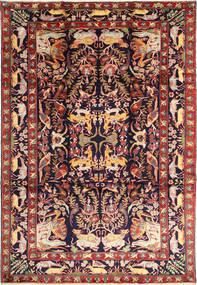 Bakhtiyar Figur/Bilde Teppe 231X332 Ekte Orientalsk Håndknyttet Mørk Rød/Svart (Ull, Persia/Iran)