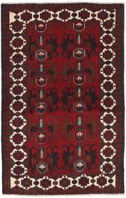 Beluch Teppe 88X143 Ekte Orientalsk Håndknyttet Mørk Rød/Svart (Ull, Afghanistan)