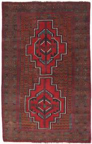 Beluch Teppe 87X137 Ekte Orientalsk Håndknyttet Mørk Rød/Mørk Brun (Ull, Afghanistan)
