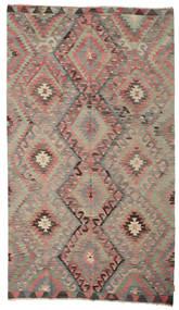 Kelim Halvt Antikke Tyrkiske Teppe 176X306 Ekte Orientalsk Håndvevd Brun/Mørk Rød (Ull, Tyrkia)