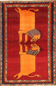 Ghashghai Teppe 150X231 Ekte Orientalsk Håndknyttet Rust/Orange (Ull, Persia/Iran)