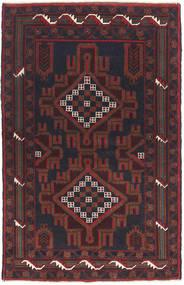 Beluch Teppe 82X135 Ekte Orientalsk Håndknyttet Svart/Mørk Brun (Ull, Afghanistan)