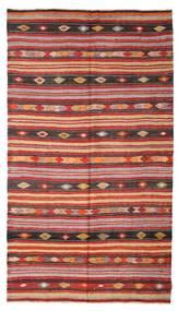 Kelim Halvt Antikke Tyrkiske Teppe 180X322 Ekte Orientalsk Håndvevd Mørk Rød/Rust (Ull, Tyrkia)