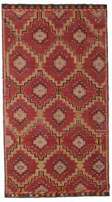 Kelim Halvt Antikke Tyrkiske Teppe 175X318 Ekte Orientalsk Håndvevd Mørk Rød/Mørk Brun (Ull, Tyrkia)