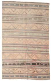 Kelim Halvt Antikke Tyrkiske Teppe 195X316 Ekte Orientalsk Håndvevd Lys Grå/Lysbrun (Ull, Tyrkia)