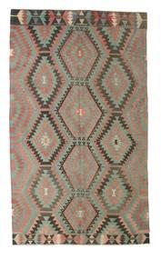Kelim Halvt Antikke Tyrkiske Teppe 176X300 Ekte Orientalsk Håndvevd Lys Grå/Mørk Grå (Ull, Tyrkia)
