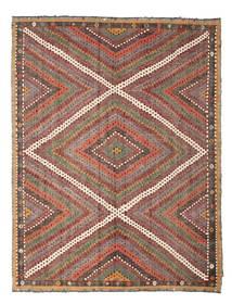 Kelim Halvt Antikke Tyrkiske Teppe 210X271 Ekte Orientalsk Håndvevd Lysbrun/Mørk Rød (Ull, Tyrkia)