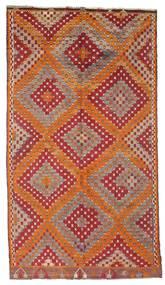 Kelim Halvt Antikke Tyrkiske Teppe 170X306 Ekte Orientalsk Håndvevd Mørk Rød/Brun (Ull, Tyrkia)