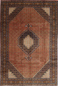 Ardebil Teppe 195X289 Ekte Orientalsk Håndknyttet Mørk Brun/Mørk Rød (Ull, Persia/Iran)