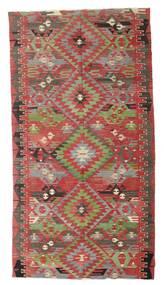 Kelim Halvt Antikke Tyrkiske Teppe 170X316 Ekte Orientalsk Håndvevd Mørk Rød/Olivengrønn (Ull, Tyrkia)