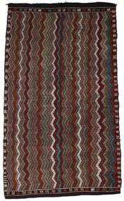 Kelim Halvt Antikke Tyrkiske Teppe 187X310 Ekte Orientalsk Håndvevd Mørk Brun/Mørk Rød (Ull, Tyrkia)