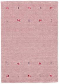 Gabbeh Loom Two Lines - Pink Teppe 140X200 Moderne Lyserosa (Ull, India)