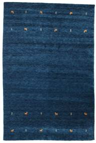 Gabbeh Loom Two Lines - Mørk Blå Teppe 190X290 Moderne Mørk Blå (Ull, India)