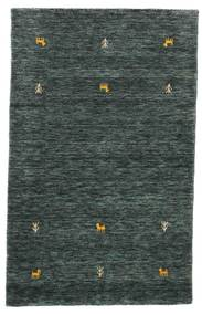 Gabbeh Loom Two Lines - Mørk Grå/Grønn Teppe 100X160 Moderne Svart/Mørk Grå (Ull, India)
