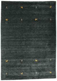 Gabbeh Loom Two Lines - Mørk Grå/Grønn Teppe 160X230 Moderne Svart (Ull, India)