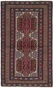 Beluch Teppe 103X182 Ekte Orientalsk Håndknyttet Mørk Brun/Mørk Rød (Ull, Afghanistan)