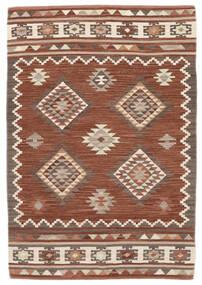 Kelim Malatya Teppe 120X180 Ekte Moderne Håndvevd Mørk Rød/Lysbrun (Ull, India)