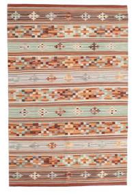 Kelim Anatolian Teppe 100X160 Ekte Moderne Håndvevd Mørk Rød/Lys Grå (Ull, India)