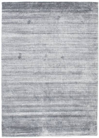 Bamboo Silke Loom - Denim Blå Teppe 140X200 Moderne Lys Blå/Lys Grå (Ull/Bambus Silke, India)