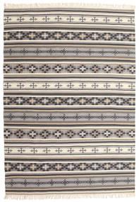 Kelim Cizre Teppe 160X230 Ekte Moderne Håndvevd Lys Grå/Beige (Ull, India)