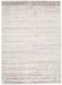 Bamboo Silke Loom - Warm Grå Teppe 140X200 Moderne Lys Grå ( India)