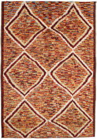 Barchi/Moroccan Berber Teppe 197X292 Ekte Moderne Håndknyttet Mørk Rød/Rød (Ull, Afghanistan)