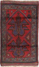 Beluch Teppe 83X135 Ekte Orientalsk Håndknyttet Mørk Brun/Mørk Rød (Ull, Afghanistan)