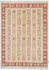 Ziegler Teppe 149X205 Ekte Orientalsk Håndknyttet Beige/Lys Grå (Ull, Pakistan)